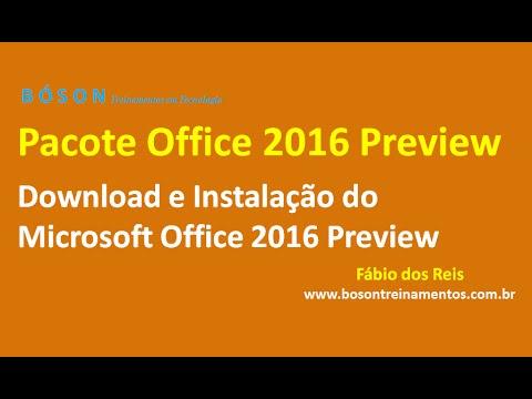 Download e Instalação do Microsoft Office 2016 Preview