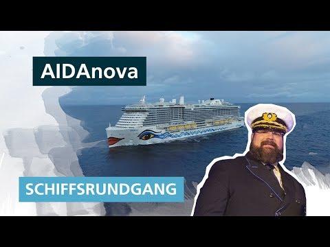 AIDAnova Schiffsrundgang ✅ Die große Schiffsführung mit Kapitän Boris Becker