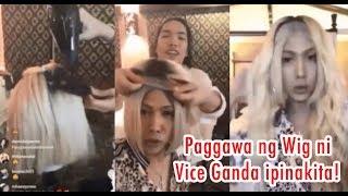Mabusising Paggawa ng WIG ni VICE GANDA Ipinakita