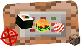Cube food With Only One Command | Minecraft 1.10
