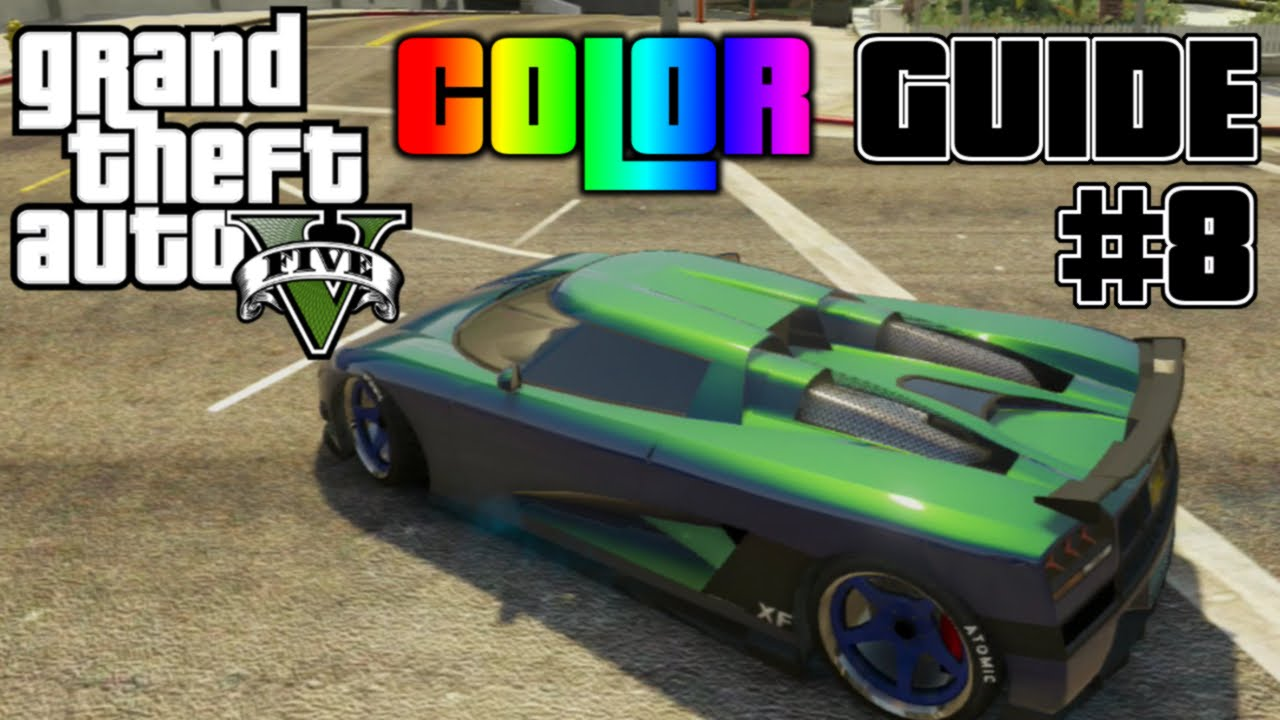 GTA V Ultimate Color Guide 8 Best Colors Combos For