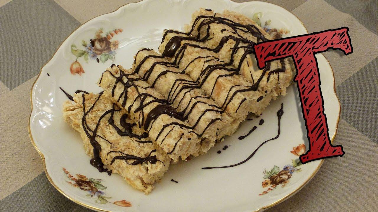Pyramid Biscuit Cake with Banana | Chocolate Salami with Bananas ...