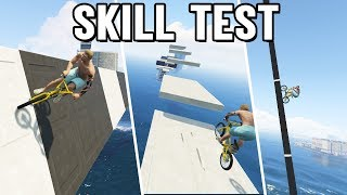 BMX WALLRIDE, JUMPS & KLETTERN 😱 BMX Skill Test in GTA 5 Online