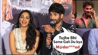 Shahid kapoor Funny Reaction On His Gaali (Madr**od )In Kabir Singh Movie | Kabir Singh Trailer