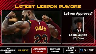LeBron James Rumors: LeBron Down To Lakers Or Cavs, Approves Collin Sexton Pick & Dialogue With Cavs