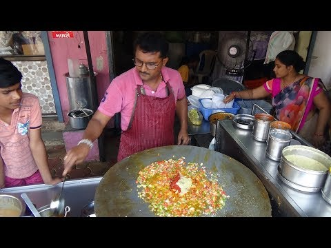 Tawa Pilau Rice Recipe  Chaat, Bhel, Pani Puri, Indian Street Food at Kanaiya Paubhaji Centre Kadod