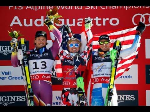 World Ski Championship in Beaver Creek 2015-TOP MEN'S Medalist IN SLOWMOTION