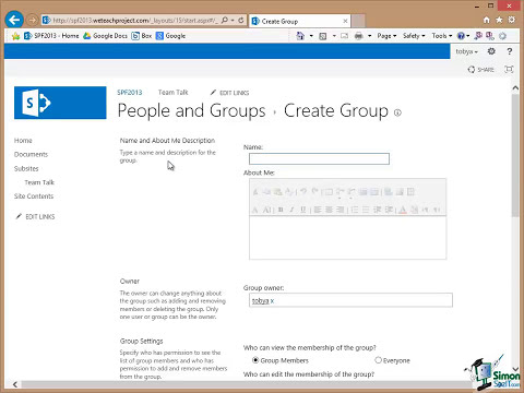 Microsoft SharePoint 2013 Training Tutorial - How to Setup SharePoint Users and Groups