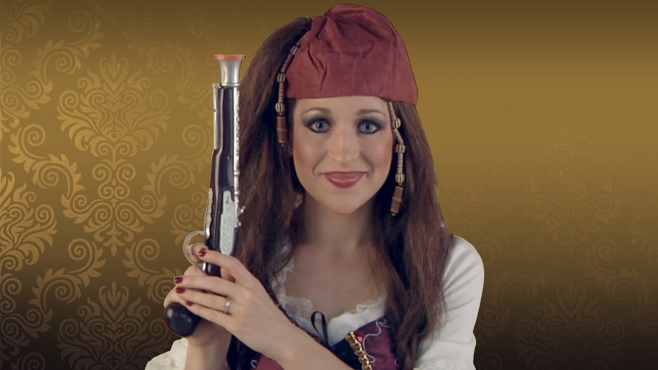 Womens Pirate Costume Makeup Tutorial - YouTube