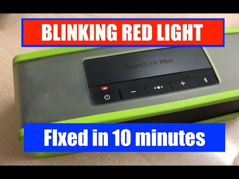 Fix the blinking red light issue on the Bose Soundlink Mini 2 Speaker in 10 minutes!
