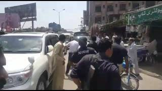 Police brutality at civil line Jhelum