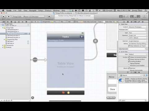 iPhone Programming - Real World Scenarios with Storyboards and Tableview Controllers (Part 1)