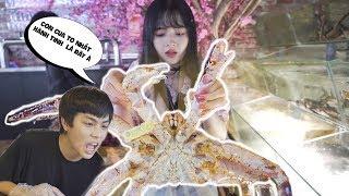 Huy giả vờ không cầm tiền dắt Hương đi ăn cua Hoàng Đế 7 Triệu và cái kết cay đắng - Jumbo King Crab