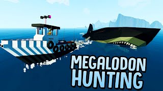 Giant Megalodon Found! - Hunting The Prehistoric Shark That Devours Ships - Stormworks Gameplay