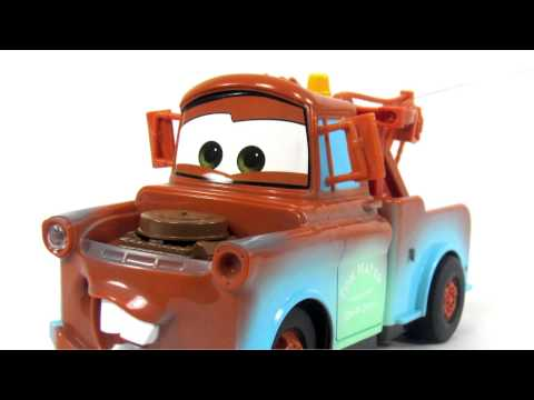 Disney Pixar Cars2 Toys   RC Champion Series Tow Mater Toy Review
