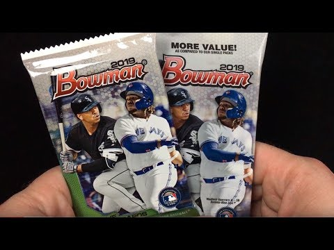 2019 Bowman Baseball Card Retail Pack Rip