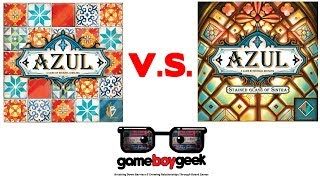 Azul V.S. Azul: Stained Glass of Sintra Comparison (Battle of the Games) with the Game Boy Geek