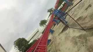 GoPro Chesty Superman Escape Coaster Movie World Gold Coast