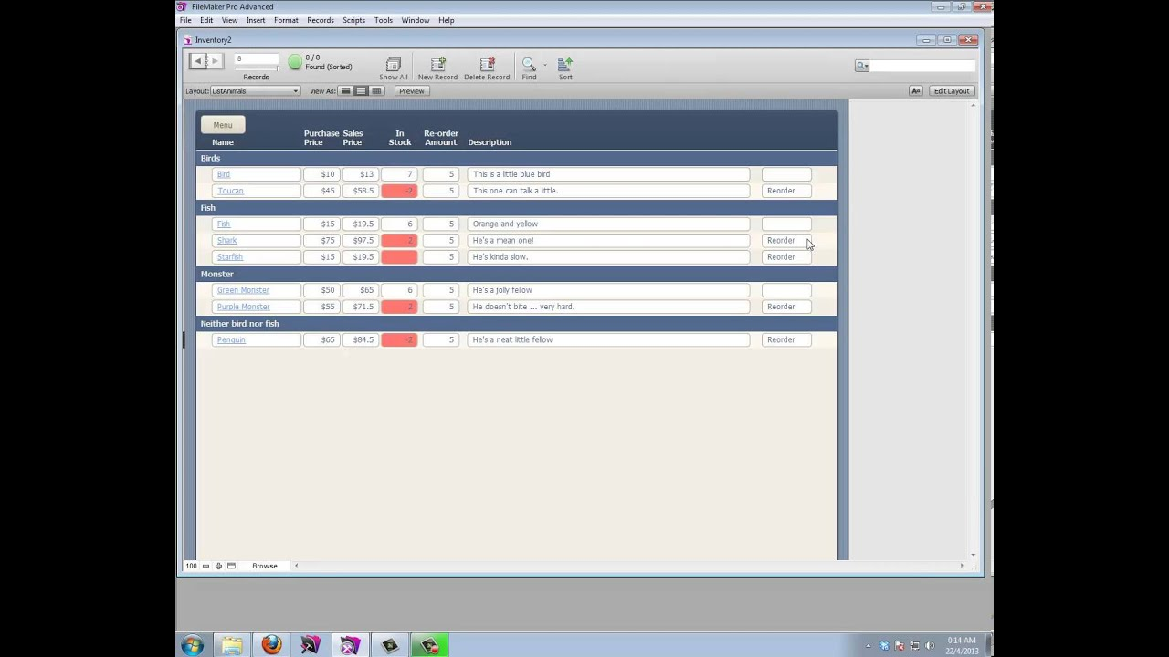 inventory database in filemaker youtube