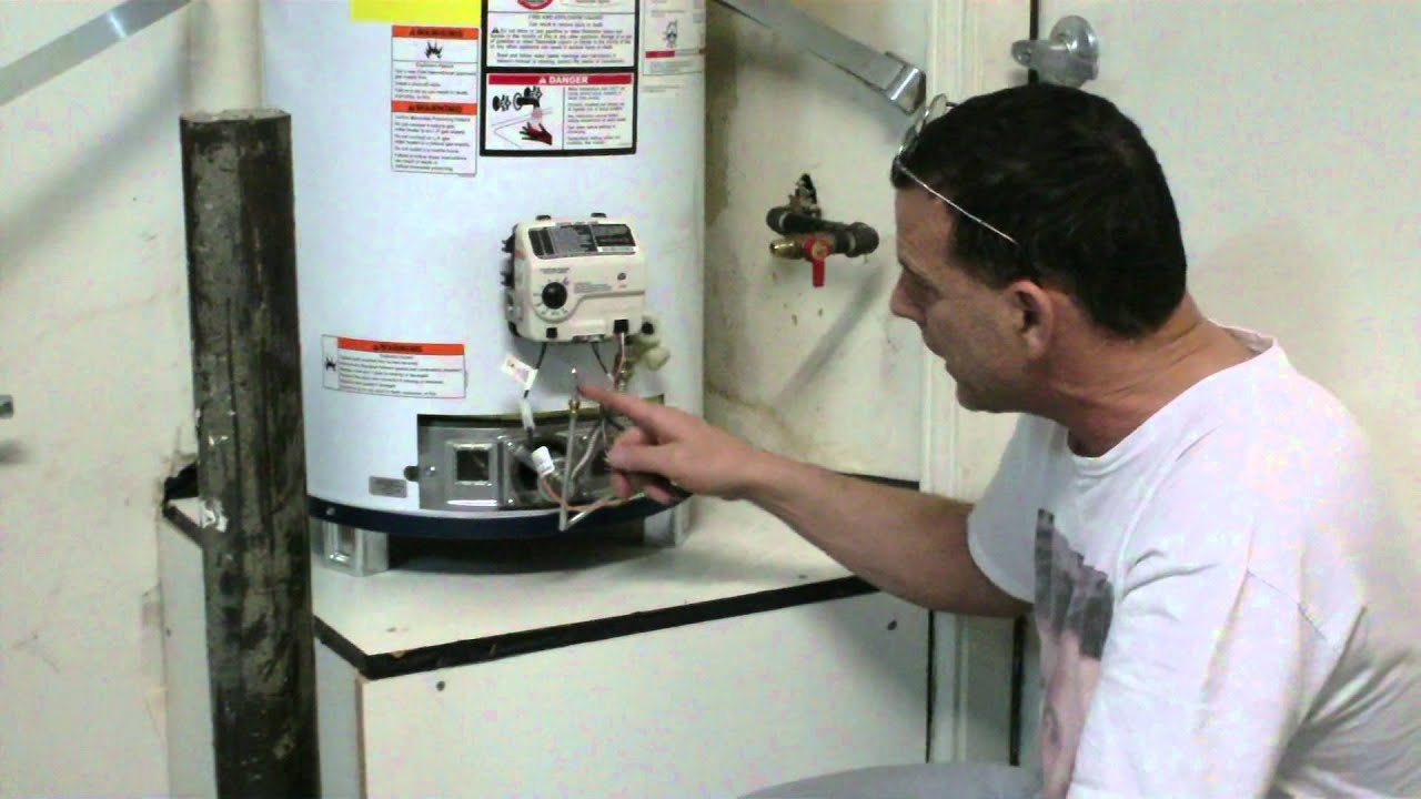 how to change temperature on rheem water heater