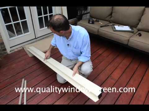 Measuring And Installing Retractable Screen Doors And Roll