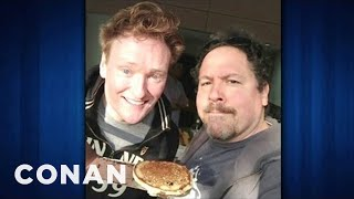 Jon Favreau Flipped Pancakes With Conan & Harrison Ford - CONAN on TBS