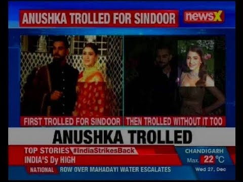 Newly-married Anushka Sharma trolled for wearing sindoor. then trolled for not wearing it