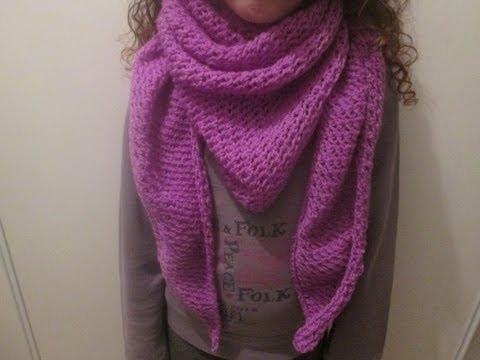 Tuto tricot apprendre a tricoter un cheche trendy au point de filet trop facile - Apprendre a tricoter une echarpe ...