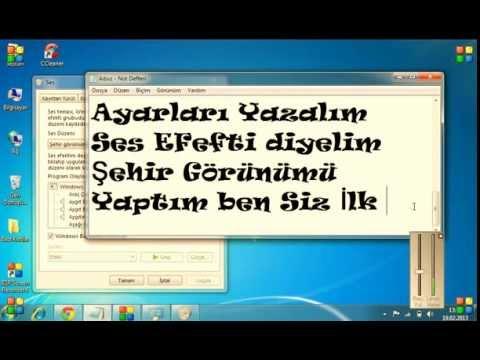 Windows Ba�lang�� Sesi De�i�me |Windows7|