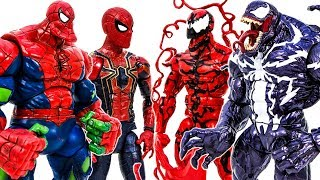Spider-Man Toys Collection Appreared Defeat Venom & Venomized Army #Toymarvel