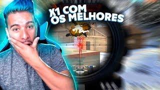 X1 CONTRA OS MELHORES JOGADORES DO SERVIDOR DE FREE FIRE