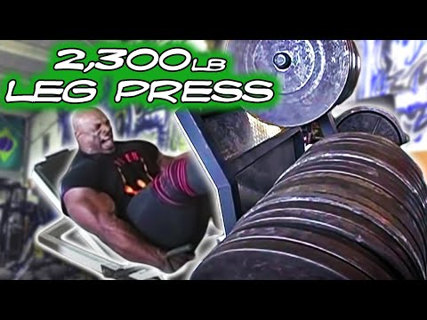 Ronnie Coleman - 2,300 lb leg press Image 1