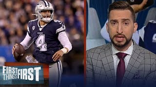 Nick Wright isn't much more confident in Cowboys after win over Giants | NFL | FIRST THINGS FIRST