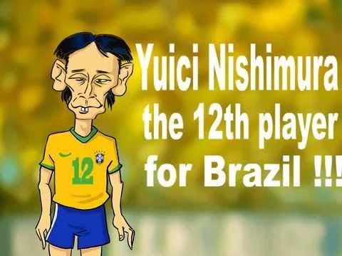 [fun parody] Yuichi Nishimura cartoon BRAZIL-CROATIA 3-1 Mundial 2014 Hrvatska parodija