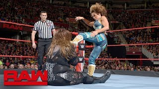 Nia Jax vs. Mickie James: Raw, March 26, 2018