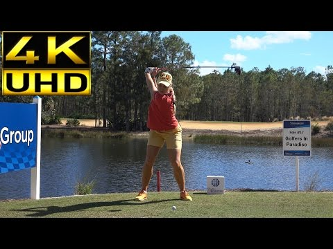 CHARLEY HULL 4K UHD SLOW MOTION FACE ON DRIVER GOLF SWING