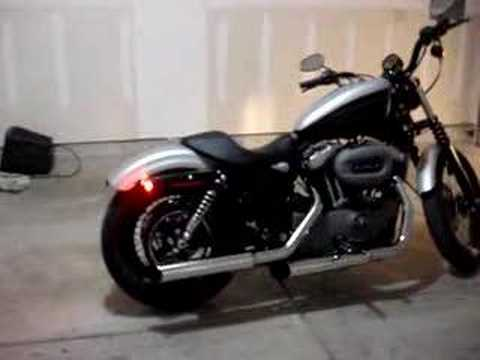 Harley Davidson Sportster Nightster 1200 -Rush SlipOns Pipes Video