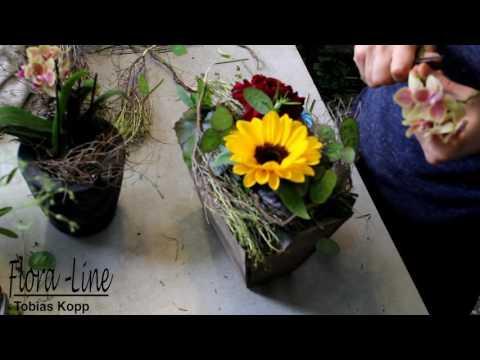 Blumengestecke Anleitung: Sommergesteck
