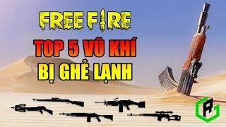 Free Fire | TOP 5 vũ khí bị GHẺ LẠNH nhất trong Free Fire | Rikaki Gaming