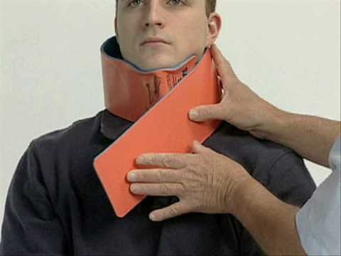 SAM Splint in neck application