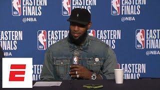 LeBron James on difficult passes in Game 3 win over Celtics: 'Don't try it at home' | ESPN