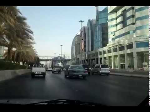 Travel through Riyadh Road, Saudi Arabia - Journey from Air port to Shimasy