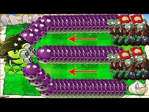 Amazing Gloom shroom vs Gatling PeaShooter vs Zomboss