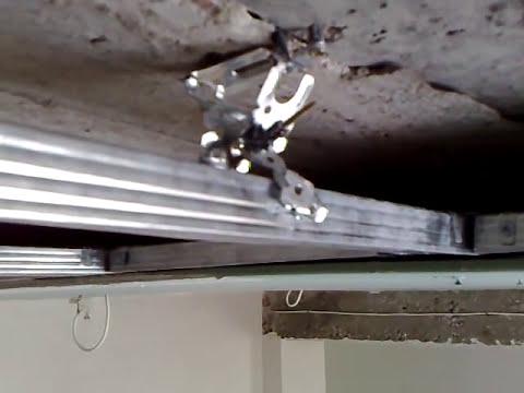 смешной потолок, гипсокартон, ну ОЧЕНЬ СЕКРЕТНЫЙ СПОСОБ. Plasterboard ceiling top secret.