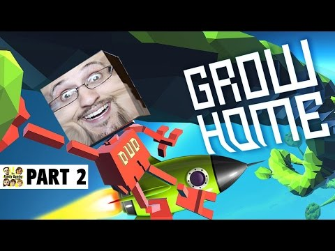Lets Play GROW HOME! Part 2:  I Got a Jet Pack Now!!!!  (Face Cam Gameplay)