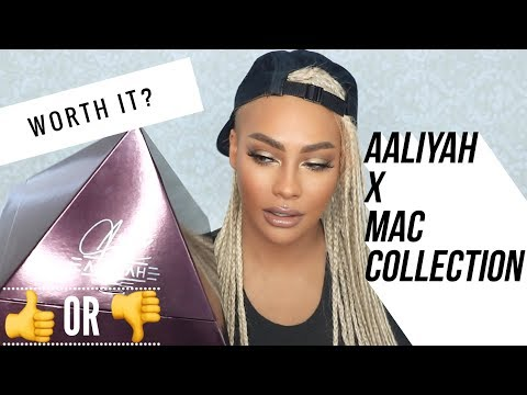 AALIYAH FOR MAC REVIEW SWATCH TUTORIAL | SONJDRADELUXE