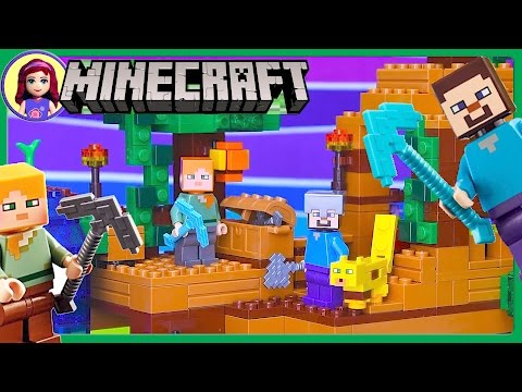 LEGO Minecraft The Jungle Tree House Build Review Silly Play - Kids Toys