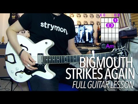 Bigmouth Strikes Again - The Smiths (Full Electric Guitar Lesson)