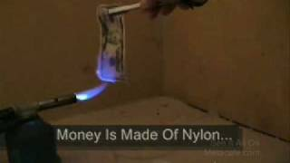 A REAL $50 Bill On FIRE- Money To Burn !