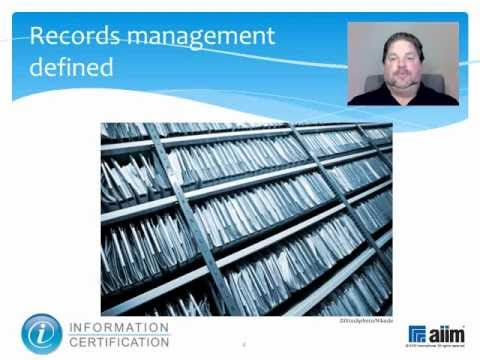 Records Management Principles & Standards